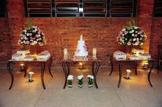 Dicas&Ideias: Decoração de festa de casamento – Mesa do bolo Parte 02
