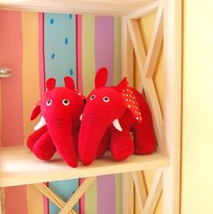 Red rubber elephant - max and ruby - toys stuffed - max and ruby max's toys - red plush elephant - res stuffed elephant
