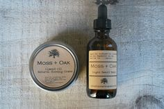 Men's Shaving Kit  /   Almond Oil Shaving Cream  Argan by MossnOak