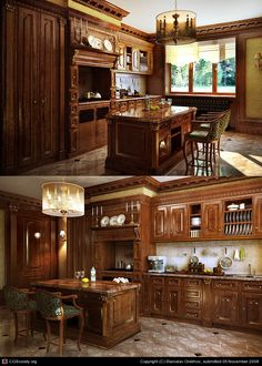 Kitchen in a big house by Stanislav Orekhov | 3D | CGSociety. Can you imagine????