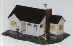 Plasticville New England Ranch House Tan Chimney Pieces O-S  Scale