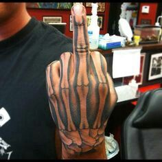 The tattoos can be perceived as an indication of toughness, strength, and a little bit of softness. Back and shoulder tattoos can effect someone seem . Mens Body Tattoos, Dope Tattoos, Dream Tattoos, Body Art Tattoos, Sleeve Tattoos, Bone Hand Tattoo, Skeleton Hand Tattoo, Skeleton Hands, Hand And Finger Tattoos