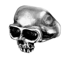 """Alchemy Gothic Death Skull Ring The famous blank, stark expression of the face of death. Approximate Dimensions Width 0.91"""" x Height 1.14"""" x Depth 0.91"""" - Based on size T/9.5 Sizes: US 7, 8.5, 9.5, 11"""