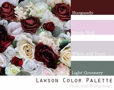 $100 Wedding Flower Package in Burgundy, Blush Pink and White. $100 Packages contains 1 bride, 2 Bridesmaids, 1 Groom and 2 Groomsmen all for only $100 November Wedding Colors, Best Wedding Colors, Red Wedding Flowers, Winter Wedding Colors, Romantic Wedding Colors, Wedding Color Pallet, Wedding Color Schemes, Wedding Color Palettes, Pink And Burgundy Wedding