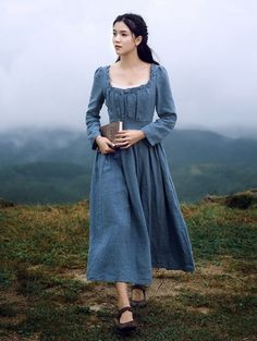 We Ship Worldwide Informations About Blue Vintage Medieval Inspired Underwear Dress Pin You can easily use my … Medieval Dress, Medieval Clothing, Medieval Girl, Medieval Outfits, Vintage Dresses, Vintage Outfits, Vintage Fashion, Old Fashion Dresses, Fashion Outfits