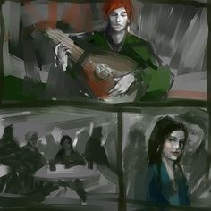 Kvothe and Denna by Andy Albarn / andyalbarn.tumblr.com | LIKE Eolian Tavern on Facebook at www.facebook.com/eoliantavern!