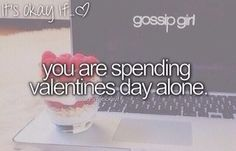 We have Netflix, internet, and internet friends who are also spend valentines day alone ☻