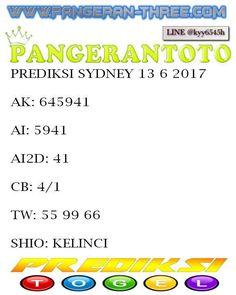 PANGERANTOTO: pangerantoto prdiksi togel sydney 13/6/2017