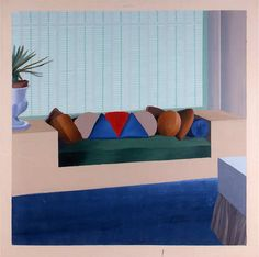 (UK) Some neat cushions, 1967 by David Hockney ). Interior Color Schemes, Interior Paint Colors, Paint Schemes, Colour Schemes, Interior Painting, Colour Palettes, Interior Design, Painting Techniques, Painting Tips