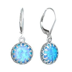 Silver Earing With Opal