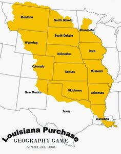The Louisiana Purchase Agreement Thomas Jefferson Bought This - Pics of us map after the louisiana purchase