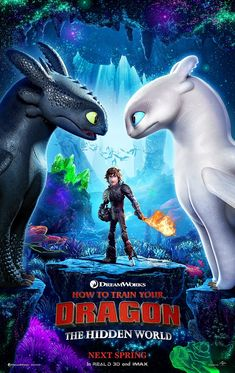 NEW Poster for How to Train Your Dragon 3: The Hidden World introduces the LIGHT FURY!