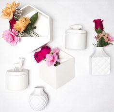 White ceramic vases & planters www.breadandbutterletter.co.nz/ Ceramic Design, White Ceramics, Floating Shelves, Vases, Planters, Home Decor, Decoration Home, Room Decor, Wall Shelves