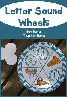 Boy Mama Teacher Mama: Letter Sound Wheels
