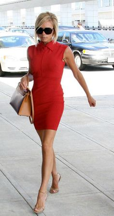 Victoria Beckham ,red dress