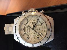 montre Chanel J-12 chronographe : A vendre trés belle montre Chanel femme en céramique blanche aucune rayure en parfaite état garantie 36 mois . Breitling, Gentleman, Luxury Fashion, Watches, Accessories, Style, White Ceramics, Nice Watches, Swag