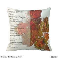Shop Grandmother Poem Throw Pillow created by Pillart. Red Bedrooms, Bedroom Red, Grandmother Poem, Designer Pillow, Custom Pillows, Your Design, The Neighbourhood, Poems, Throw Pillows