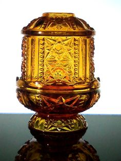 Home Interiors Amber Fairy Lamp Candle Holder Star Diamond Cut Lantern