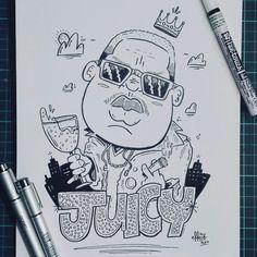 Heres #23 for inktober (Juicy) Now we sip champagne when we thirsty! .  .  .  .  .  #inktober #inktober2017 #inktoberprompts #juicy #notoriousbig #biggy #hiphop #champagne #king  #effect14 #art #artistoninstagram #instagood #followformore #drawing #traditionalart #artlife