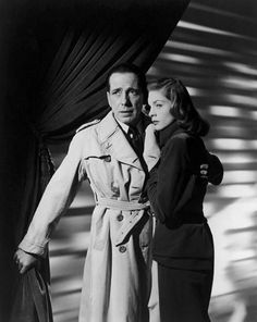 Humphrey Bogart and Lauren Bacall in a publicity photo for The Big Sleep (Howard Hawks, 1946)