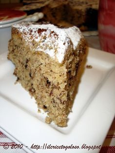 Torta con ricotta, cioccolato e mandorle