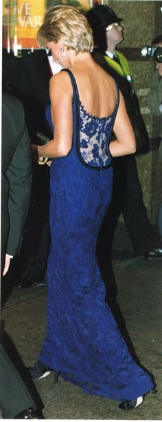 "February 12, 1997:  Diana, Princess of Wales attending the ""Love and War"" premiere at Odeon at Leicester Square, London."