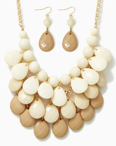 charming charlie | Layered Teardrops Necklace Set | UPC: 450900336974 #charmingcharlie