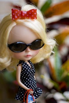 just because I love #blythe dolls . cool chick