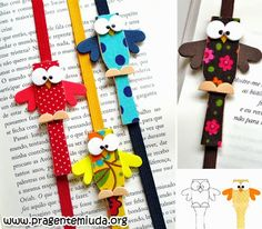 Garde page ou marque page Kids Crafts, Owl Crafts, Diy And Crafts, Paper Crafts, Sewing Projects, Craft Projects, Projects To Try, Craft Ideas, Teacher Appreciation Gifts