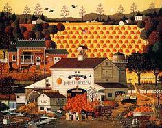 Charles Wysocki: Pumpkin Hollow