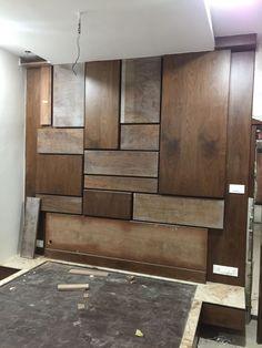 Wall Panel Design, Door Design, Bed Design, Living Room Modern, Living Room Designs, Lcd Unit Design, Room Color Design, Tv Cabinet Design, Drawing Room Interior