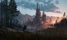 Medieval Castle [1920x1140] : wallpapers Fantasy castle Fantasy landscape Castle art