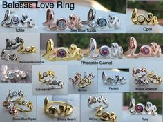 A collection of LOVE Ring handmade by Belesas