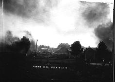 TITLE Fire at Impervious Package Company sawmill (1)  CREATOR Whitehouse, Bion, Keene NH  SUBJECT Fires – NH – Keene   DESCRIPTION  Photo shows a lot of black smoke, apparently coming from a fire at the  Impervious Package Company sawmill, 1911.  PUBLISHER Keene Public Library and the Historical Society of Cheshire County  DATE DIGITAL 20140605  DATE ORIGINAL 1900-1920?  RESOURCE TYPE photographs  FORMAT image/jpg  RESOURCE IDENTIFIER hsykwh581 (15-28)  RIGHTS MANAGMENT No known copyright…