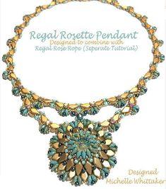 Regal Rosette Pendant ONLY Needlework Tutorial PDF