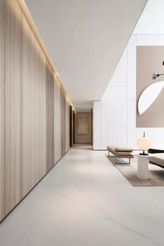 """""""How to attach a modern accent wall. ] - Discover more interior design and home decor inspiration on www. Lobby Interior, Office Interior Design, Office Interiors, Interior Architecture, Marble Interior, Modern Interiors, Interior Lighting, Interior Design Minimalist, Contemporary Interior"""