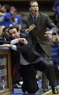Coach K & Chris Collins - DUKE basketball...you always have my heart!