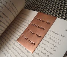 Metal Stamped Copper Bookmark by Snappin Studio