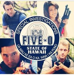 Hawaii Five-0 CLOCKWISE: Steve, Kono, Chin and Danny.