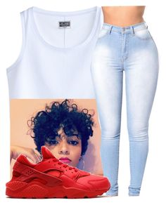"""""""pre 4th of July"""" by aribearie ❤ liked on Polyvore featuring MTWTFSS Weekday and NIKE"""