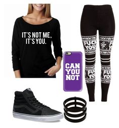 """""""Don't Talk To Me"""" by emily-mcbride246 on Polyvore featuring Casetify, Repossi and Vans"""