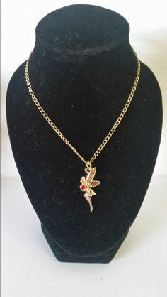 Gold fairy with red rhinestone. AUS $ 8.50