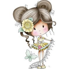 Cute Cartoon Pictures, Cute Cartoon Drawings, Xmas Drawing, Baby Girl Clipart, Art Assignments, Nostalgic Art, Cute Girl Wallpaper, Character Design Animation, Baby Art