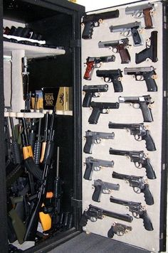 I want a gun safe like this... - Joe, it's about time we get a safe like this one!! lol!