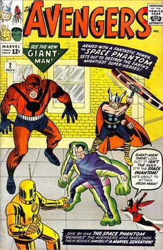 Comic Book Critic - Google+ - The Avengers #2 (Nov '63) cover by Jack Kirby & Sol Brodsky.