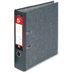Image of 5 Star A4 Lever Arch Files / 70mm Spine / Cloudy Grey / Pack of 10