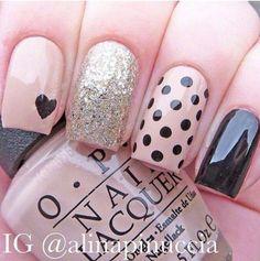 Spring pink and yellow floral nail design #nails #nailart #cute