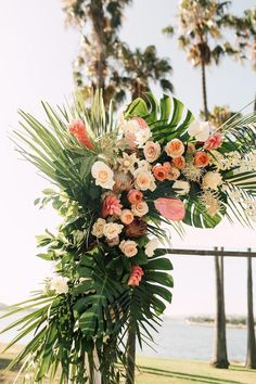 Tropical Beach Wedding with Palm Fronds and Ocean Breeze  #wedding  #BeachWeddingDress    #Beach #beachwedding #beachweddingdress #Breeze #Fronds #Ocean #Palm #Tropical #Wedding
