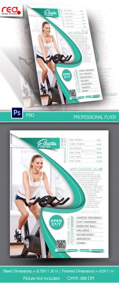 Fitness Flyer Template PSD Download here https\/\/graphicriver - fitness flyer template