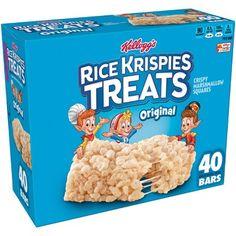 Rice Krispies The Original Treats Crispy Marshmallow Cereal Bars - oz - Kellogg's Rice Krispies, Rice Krispie Treats, Cocoa Krispies, Marshmallow Cereal, Puffed Rice Cereal, Cereal Bars, On The Go Snacks, Snack Bar, Afternoon Snacks